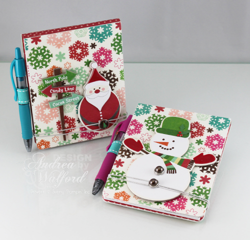 Holiday Note Pad Holder Featuring Echo Park's Holly Jolly Christmas Collection