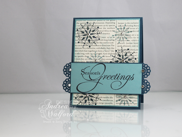 """Season's Greetings"" Card Inspired by Ashley Cannon Newell"
