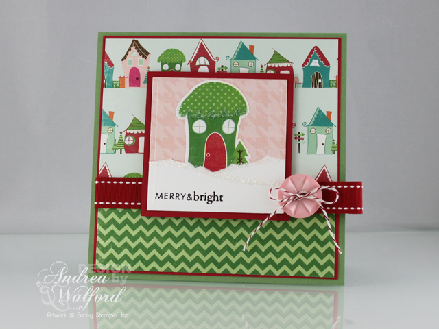 Merry And Bright Christmas Card Card Featuring Echo Park's Holly Jolly Christmas Collection