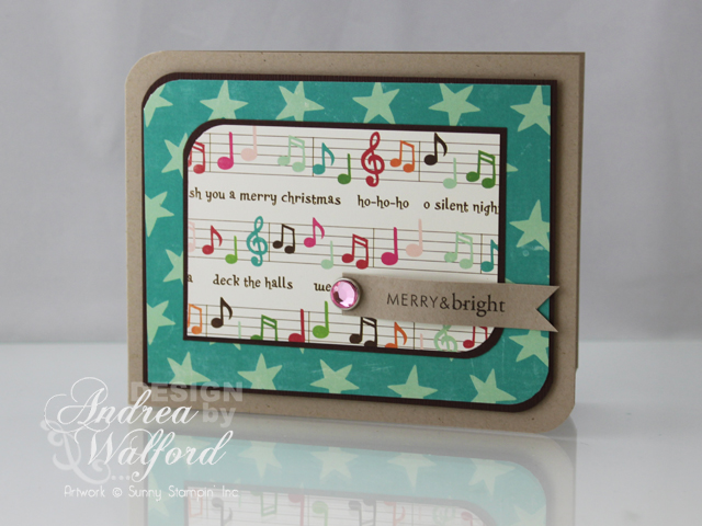 A Musical Christmas Card Featuring Echo Park Holly Jolly Christmas Collection by Andrea Walford