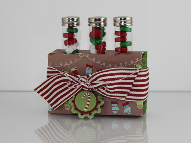Holiday Table Top Test Tube Treat Holder