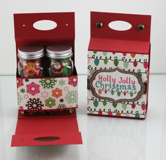 Holiday Treat Tote Open