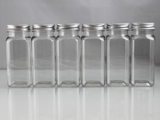 4 oz Square Plastic Bottles