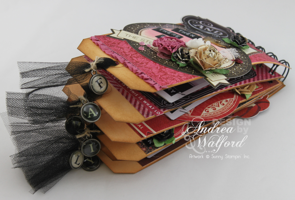 And Then There Were Five Mini Scrapbook Album  by Andrea Walford
