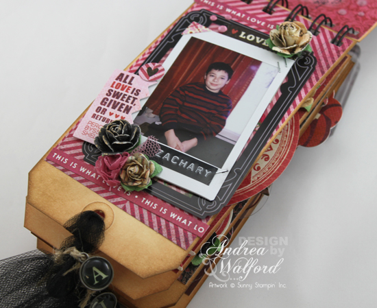 And Then There Were Five Mini Scrapbook Album  by Andrea Walford Page About Zachary