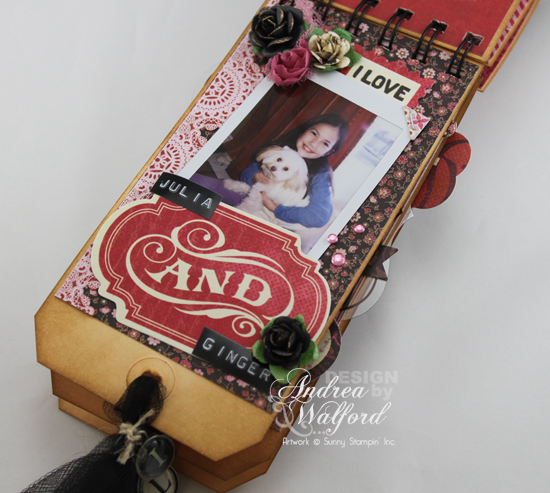 And Then There Were Five Mini Scrapbook Album  by Andrea Walford Page About Julia