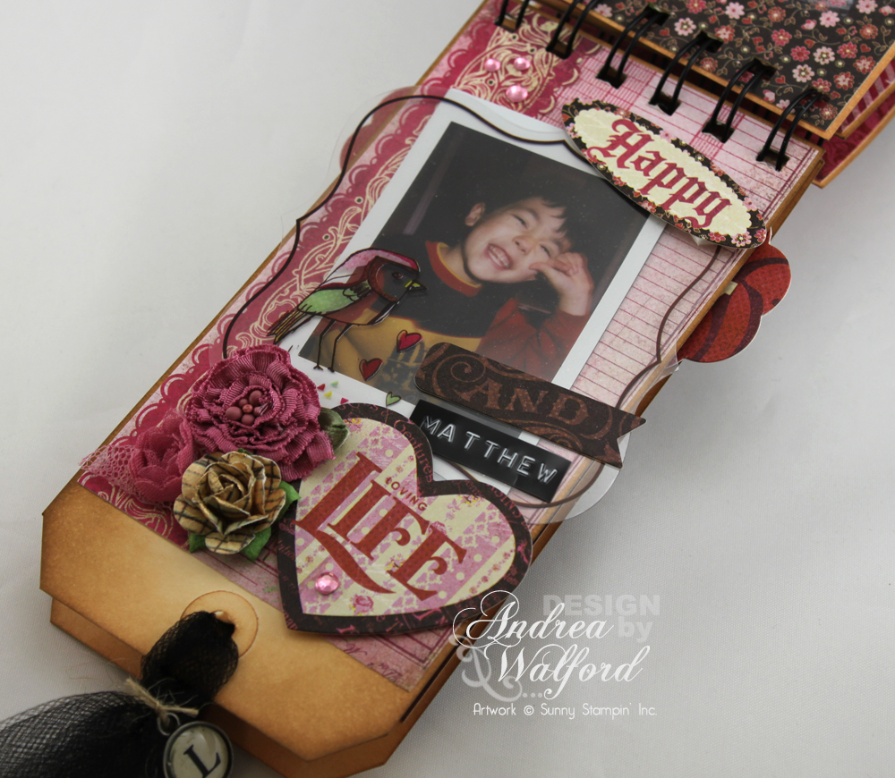 And Then There Were Five Mini Scrapbook Album  by Andrea Walford Page About Matthew