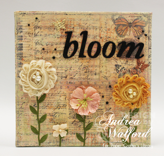 Bloom Canvas From Bloom Canvas Trio by Andrea Walford