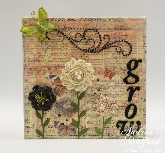 Grow Canvas From Bloom Canvas Trio by Andrea Walford