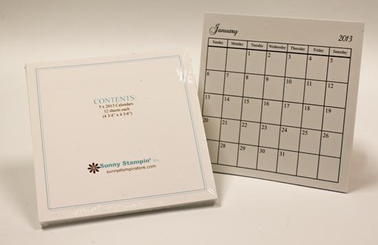 calendar and tin