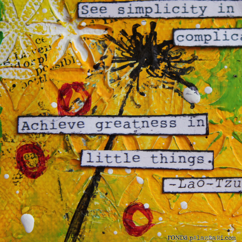 Ronda Palazzari Little Things Canvas 2 Quote details