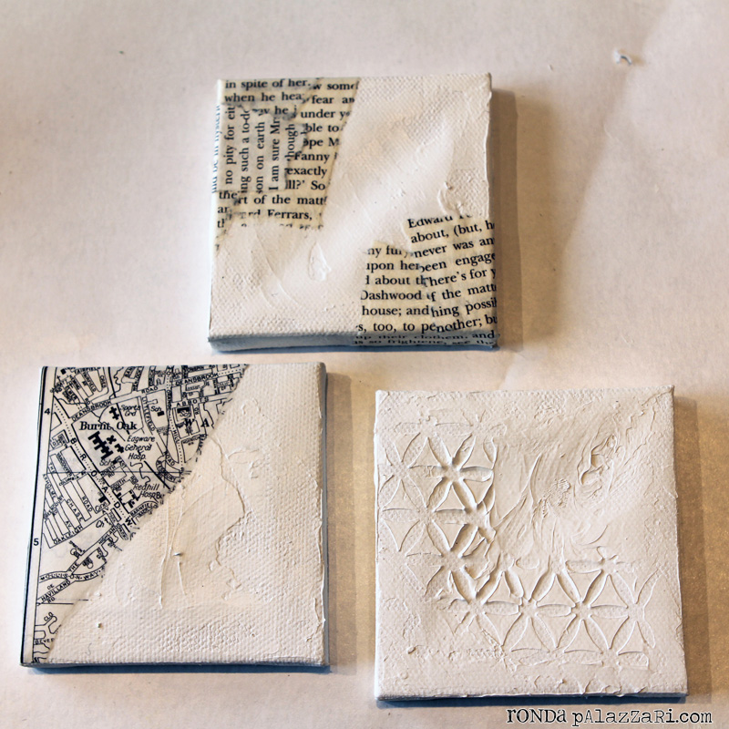 Ronda Palazzari Little Things Mini Canvases beginning