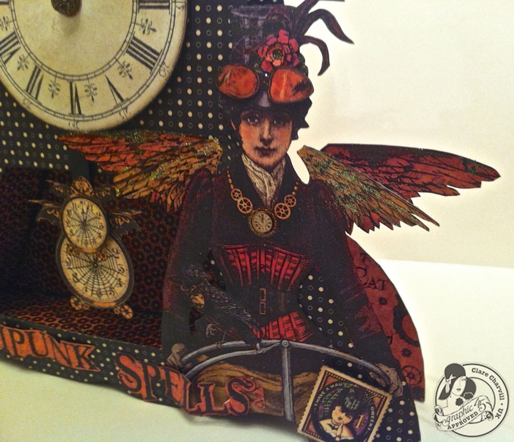 703CHA & Papercrafters Library Clare Charvill Steampunk Spells Altered Art Pic 2
