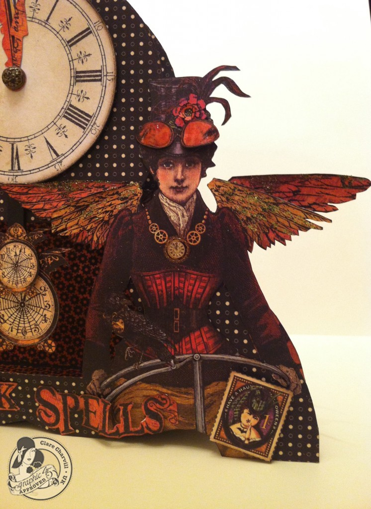 703CHA & Papercrafters Library Clare Charvill Steampunk Spells Altered Art Pic 3
