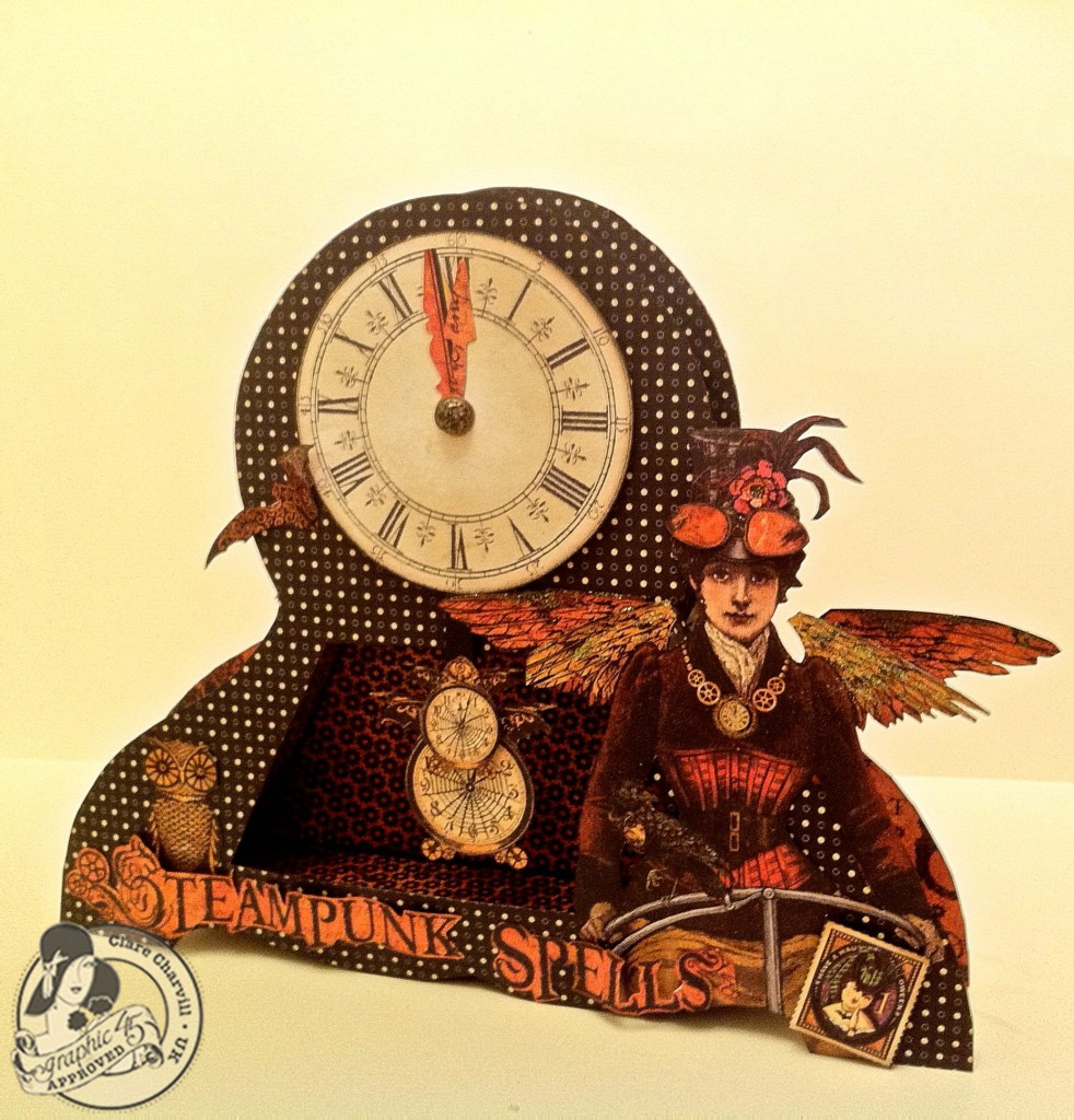 703CHA & Papercrafters Library Clare Charvill Steampunk Spells Altered Art Pic 4
