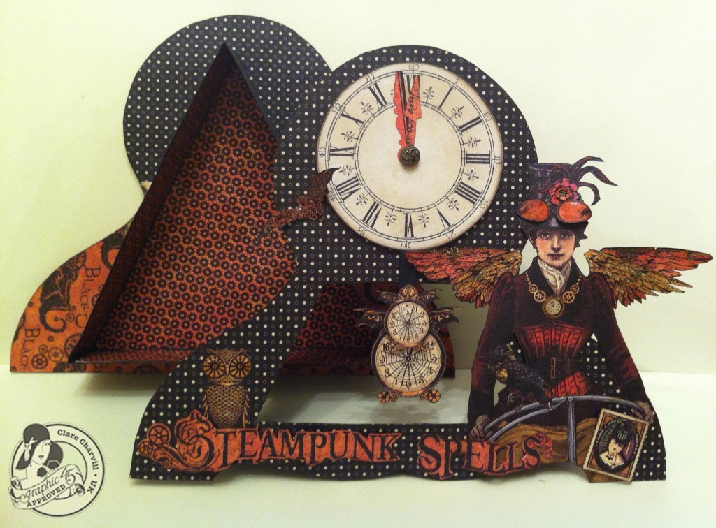 703CHA & Papercrafters Library Clare Charvill Steampunk Spells Altered Art Pic 7