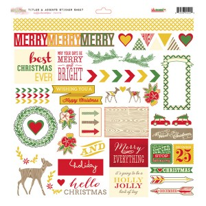 Glitz design hello december stickers titles and accents