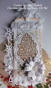 Tag by Carol Hurlock photo courtesy of Chocolate Crafts and Bears oh my