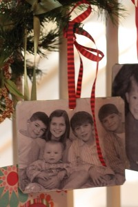 year by year photo ornaments