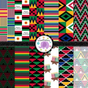 Digital kente paper etsy