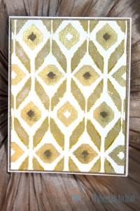 Ikat Shades of Gold 002