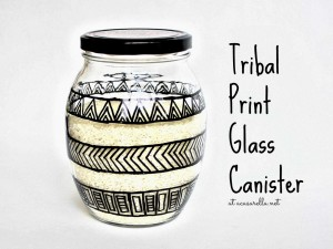 Tribal Print Glass Canister2