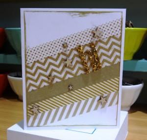 gold washi tape card
