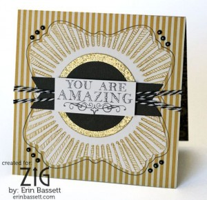 you are amazing gold card