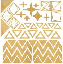 studio calico darling dear wood veener triangles
