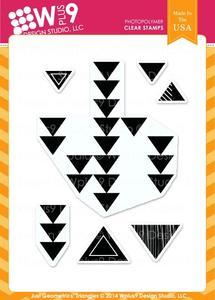 wplus9 design studio clear stamp set just geometrics triangles
