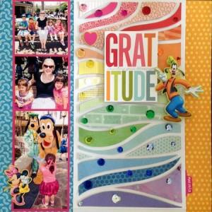 Disney  gratitude layout