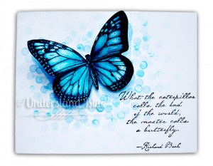 Bokeh Blue Butterfly