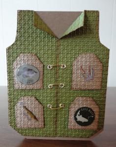 Fishing vest card