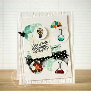 Chemistry Circles Card by Laurie Schmidlin
