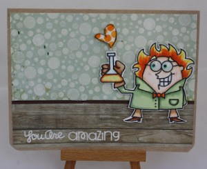 Mad Scientist Card by Donna Hitz