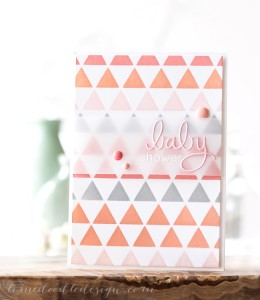 Debby Hughes Baby Shower Card with vellum