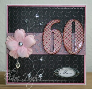 Elaines 60 bd card using diamond glaze