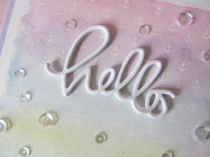 Laura Steryk Close Up of Hello Card