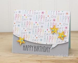happy birthday Lawn Fawn by Kimberly Crawford