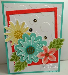 Floral Polaroid Frame by Becky Roberts