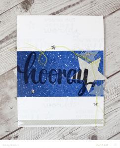 Hooray Stars Card by Emily Branch