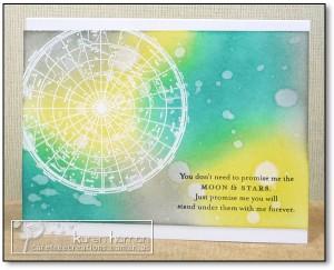Moon & Stars card by Karen Haman