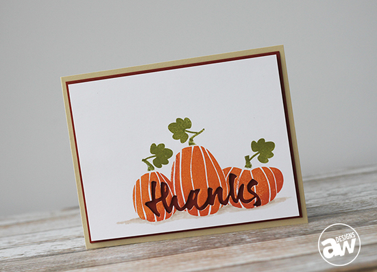 Harvest Thanks Card Pic 2: Keep it CASual #3 - by Andrea Walford for Paper Crafter's Library