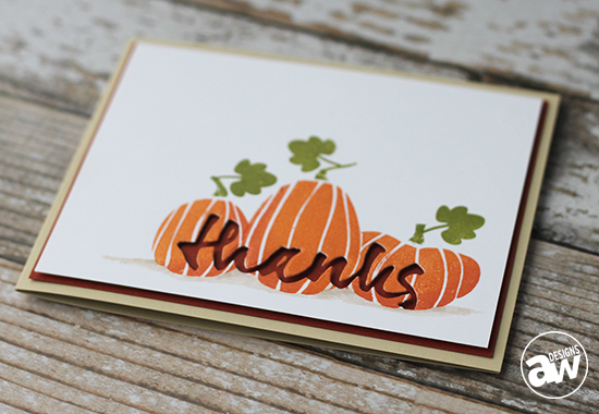 Harvest Thanks Card Pic 3: Keep it CASual #3 - by Andrea Walford for Paper Crafter's Library