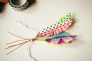 washi feathers