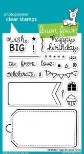 Birthday Tags by Lawn Fawn