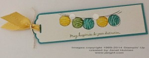 Happiness Bookmark by Janet Holmes