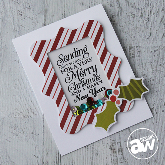 Keep it CASual #6 - Merry Christmas Shaker Card - Andrea Walford