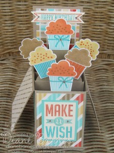 Cupcake Pop-Up Card by Diane Barnes