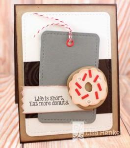 Life is Short Card by Lisa Henke